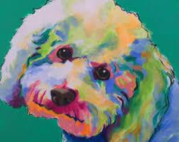 poodle y bichon frise poodle maltipoo bichon frise dog art pet portrait bright