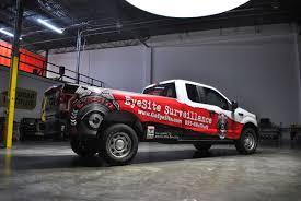 Ford F150 Truck Wraps - eyesite surveillance ford f150 partial wrap fleet car wrap city