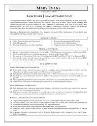 bank teller experience resume gse bookbinder co
