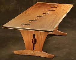 Live Edge Walnut Dining Table With Custom Pedestal By PlankToTable - Custom kitchen tables