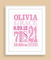 Baby Customized Gifts Printable Diy Baby Birth Stats 8x10 Newborn Personalized Custom