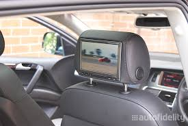 audi a6 tv alpine 7 inch integrated dual headrest screen rear seat