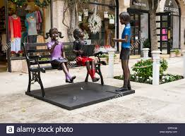 florida palm beach worth avenue art work child children figures
