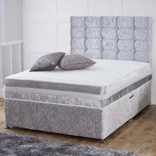 Bed Frame Types New Crushed Velvet Fabric Divan Bed Base With Different Types Of