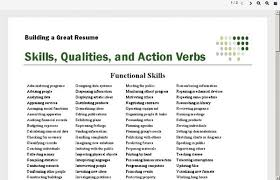 Good Resume Skill Words Good Resume Verbs Lukex Co