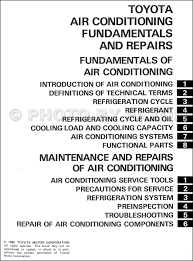 1986 toyota air conditioning fundamentals and repairs training