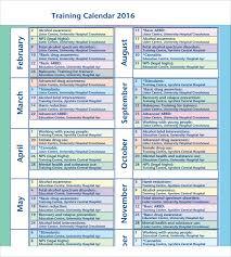 6 training calendar templates website wordpress blog