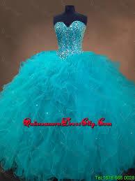 aqua quinceanera dresses beaded and ruffles quinceanera gowns in aqua blue 169 88