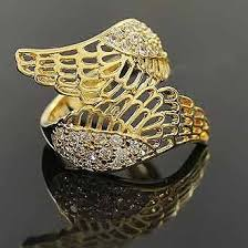 girl finger rings images Fashion cutout ring super girl big wings rings finger rings jpg