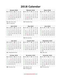 blank 2018 calendar 2018 calendar printable