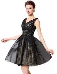 black gold short tulle sequin formal prom dress cocktail dress