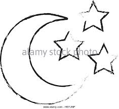 crescent moon black and white stock photos images alamy