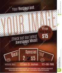restaurant coupon flyer template stock vector image 49804016