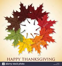 maple leaf happy thanksgiving card in vector format stock vector