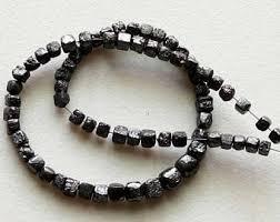 black diamonds necklace images Uncut black diamond etsy jpg