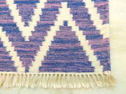 Aztec Runner Rug Purple Aztec Modern Geometric Kilim Hand Knotted 3x5 Discovered