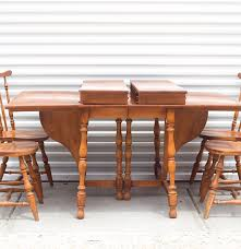 vintage ethan allen drop leaf table and chairs ebth