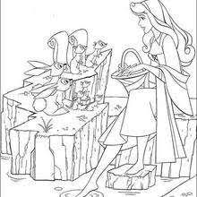 princess aurora dancing coloring pages hellokids