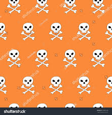 free halloween tiled background vector skull bones crossed seamless pattern stock vector 505841446
