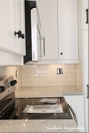 Subway Tile Backsplash For Kitchen White Subway Tile Backsplash With Gray Grout