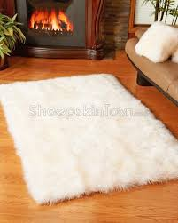 6 X 6 Area Rug Alluring Brilliant Sheepskin Area Rug Large Ivory White 4 X 6 Rugs