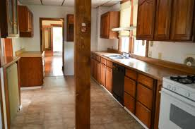 astonishing small kitchen galley decoration using solid cherry