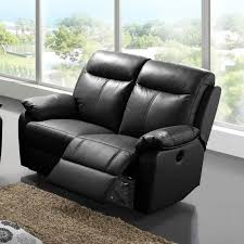 canapé relax cuir 2 places canapé relax électrique 2 places cuir noir vyctoire l 150 x l 95