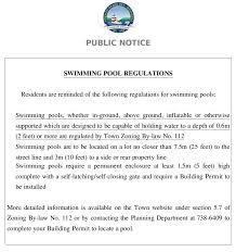 grand bay westfield swimming pool regulations