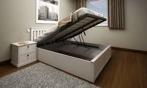 lovable white wooden ottoman bed hemling interiors