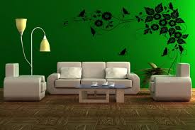 Single Couch Green And Brown Living Room Wood Floor Classic Sofa Green Fabric