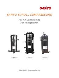 sanyo scroll hvac gas compressor