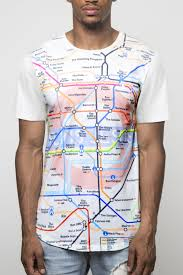 themed t shirts t shirt with themed london underground print