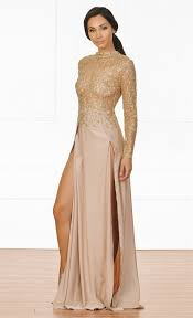 sleeve maxi dress xo high drama beige gold glitter sheer mesh sleeve mock