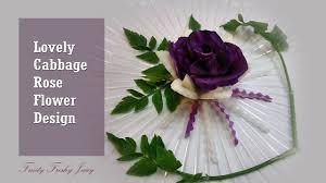 Rose Flower Design Lovely Cubbage Radish Rose Flower Garnish Vegetable Flower
