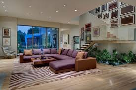 living room supported with indoor garden underneath stair and