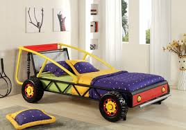 Boys Bed Frame Furniture Of America Max Metal Car Bed Silver