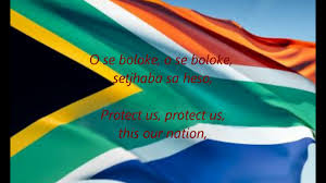 The New South African Flag South African National Anthem