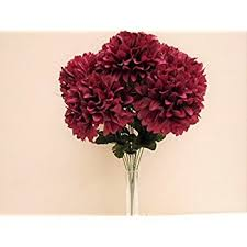 burgundy flowers burgundy chrysanthemum bush 10 artificial