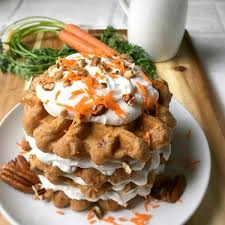 carrot cake waffles bob u0027s red mill u0027s recipe box