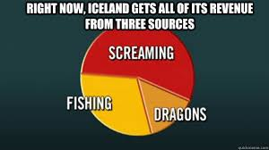 Iceland Meme - right now iceland gets all of its revenue from three sources