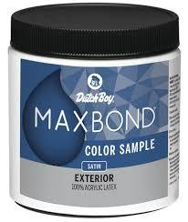 dutch boy maxbond satin exterior latex paint color sample 8 oz