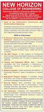 Resume For Lecturer In Engineering College New Horizon College Of Engineering Bangalore Wanted Faculty Plus