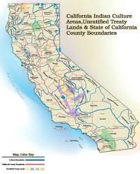 State Map Of California by California Unratified Treaties Map California Indian History