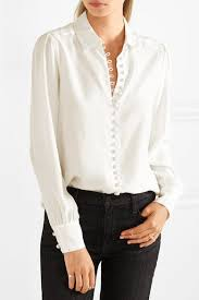 white silk blouse sleeve white washed silk button fastenings through front 100 silk