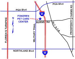 Florida Turnpike Map Location Map To Fondren Pet Care Center