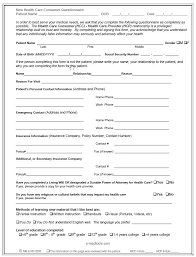health care proxy form general durable power of attorney form