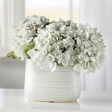 White Decorative Vase Beachcrest Home Hydrangea Centerpiece In Decorative Vase U0026 Reviews
