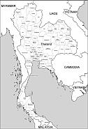 thailand vector map thailand