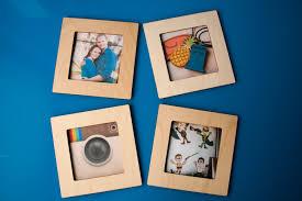 Engrave Gifts Square Frame Magnetic Instagram Photo Wooden Fridge Magnet 4x4