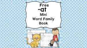 at cvc word family worksheets free minibook to teach u0027at u0027 sound